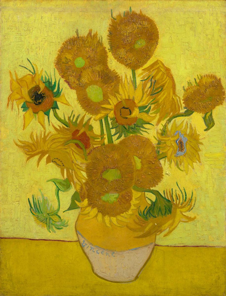 "Vincent Van Gogh ""Sunflowers"", 1889 (photo: Van Gogh Museum)."