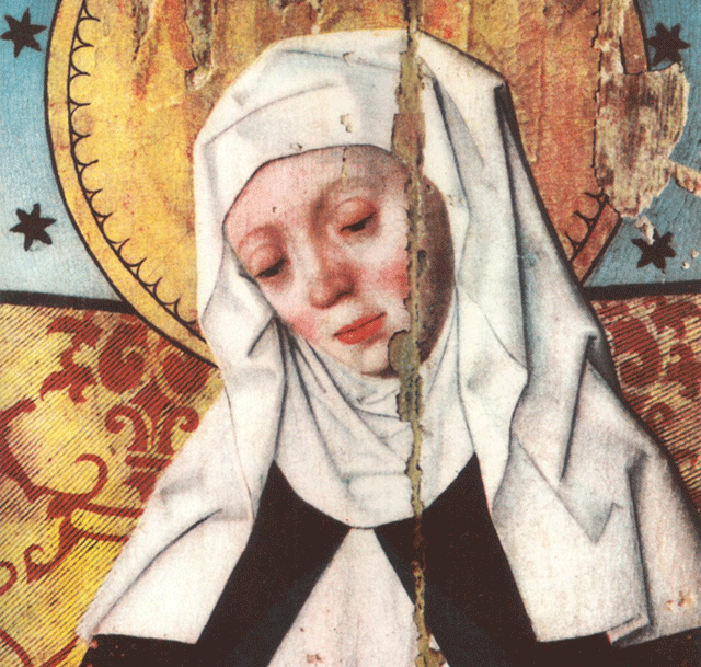 Saint Birgitta of Sweden. From Salems Church in Södermanland in Sweden. Source: Wikimedia Commons