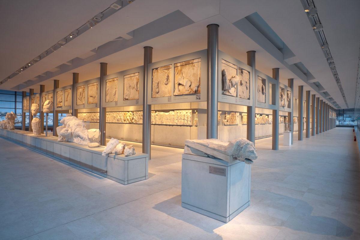 The Hall of the Parthenon. ©Acropolis Museum. Photo: Nikos Danielides.