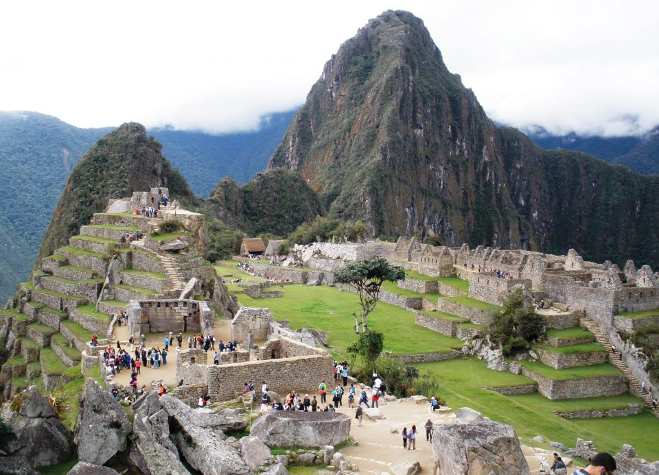 There is a wide variety of biocolonizer species that are putting the conservation of the granite at Machu Picchu at risk (Héctor Morillas / UPV/EHU).