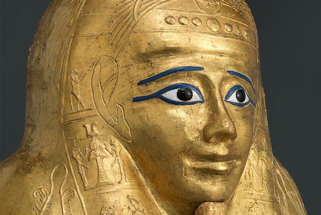 Gilded cartonnage coffin of Nedjemankh, ca. 150-50 BC. Credit: Metropolitan Museum of Art