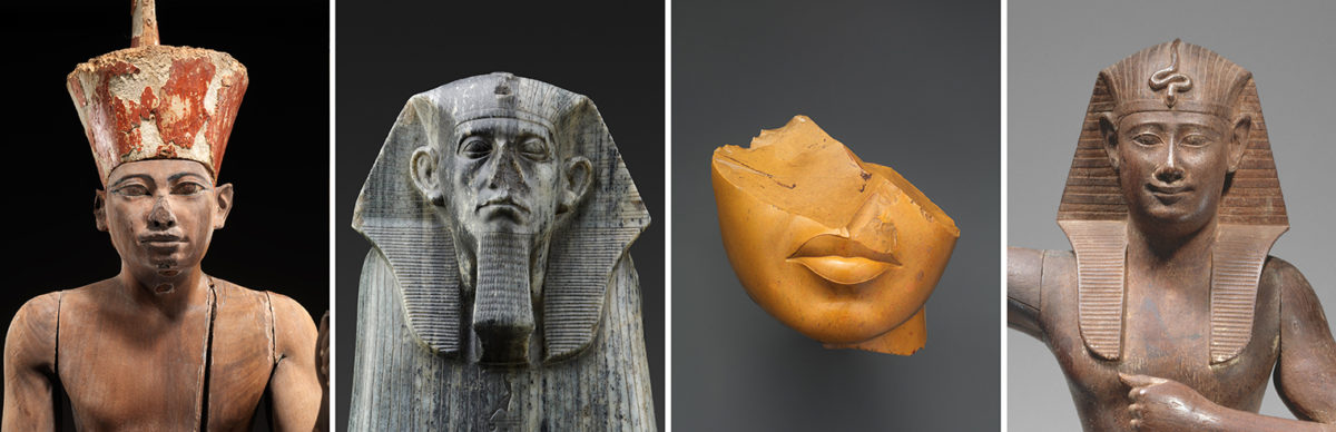 Four artworks from the Egyptian collection of the Metropolitan Museum of Art. Credit: Metropolitan Museum of Art.
