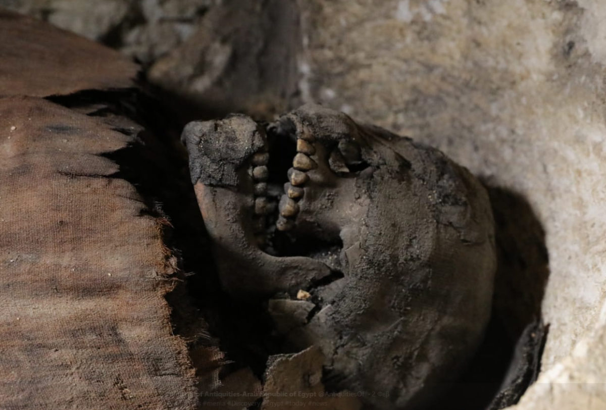 One of the mummies found at Tuna El-Gebel.