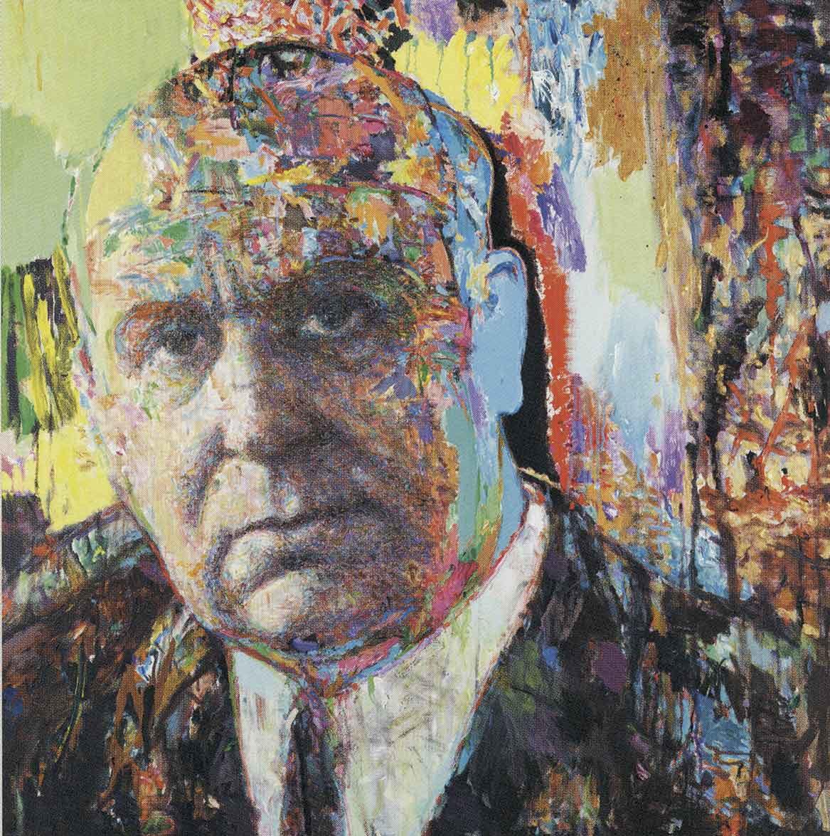 "Yannis Psychopaidis: ""Portrait of George Seferis″, 2000. Artist's collection (photo: Teloglion Foundation of Art)"