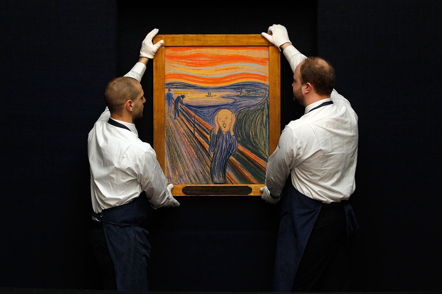 """One of the four versions of Edvard Munch's """"The Scream"""" that was auctioned in New York."""