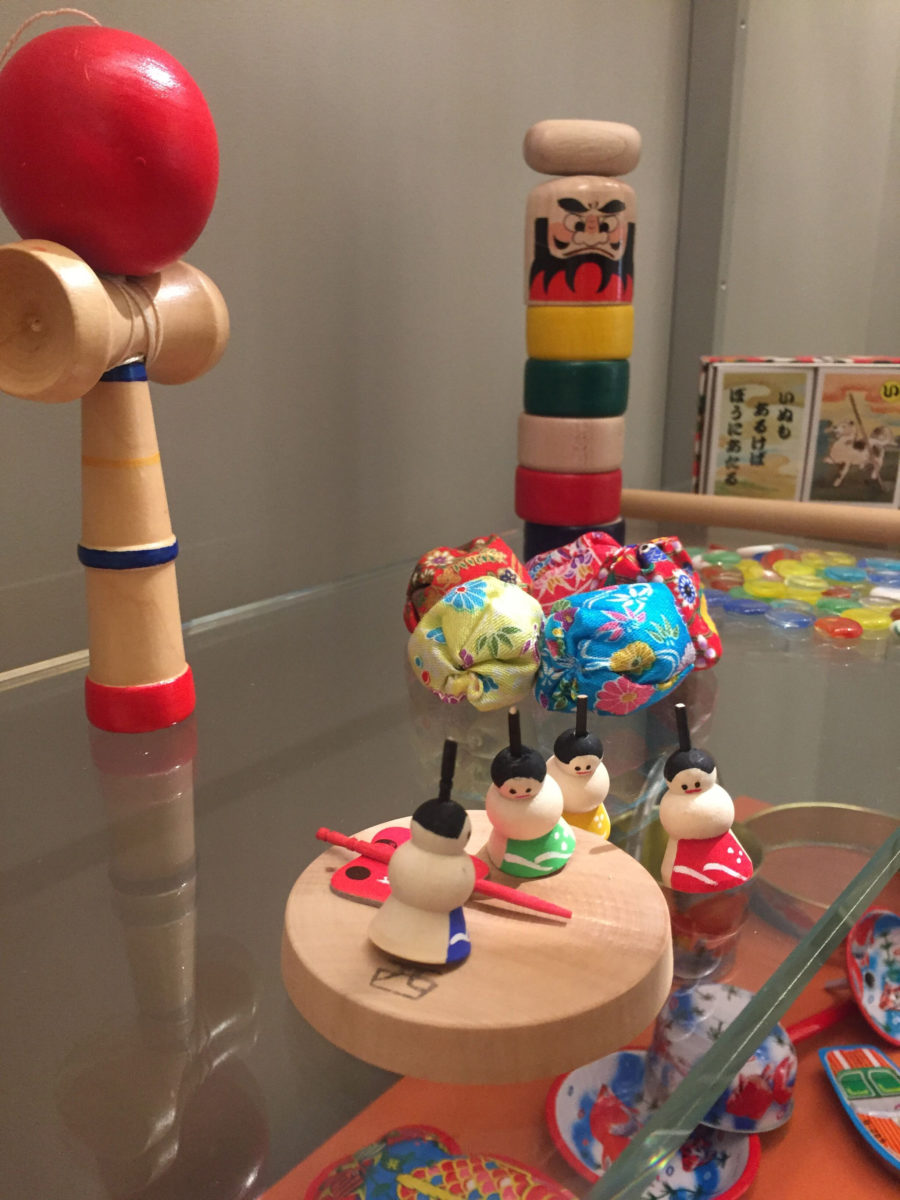 View of the exhibition of Japanese Traditional Dolls and Toys, at the Benaki Toy Museum.