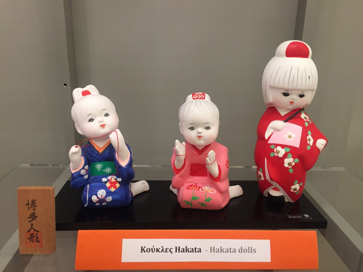 Hakata dolls. From the exhibition of Japanese Traditional Dolls and Toys, at the Benaki Toy Museum.