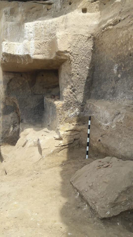 Once archaeologists cleared river silt they found structures used by the builders. Photo Photo Credit: Egypt. Ministry of Antiquities/TANN.
