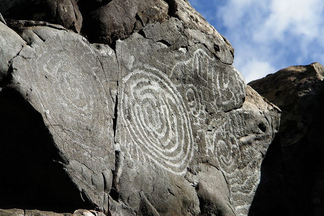 A petroglyph in the Canary Islands. Credit: WikiCommons.