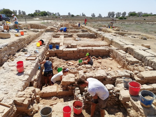 The first stage of the 2018 campaign was a study season, which took place between April and May 2018, with a small group of researchers, as well as a photographer and an illustrator. Credit: Department of Antiquities, Republic of Cyprus