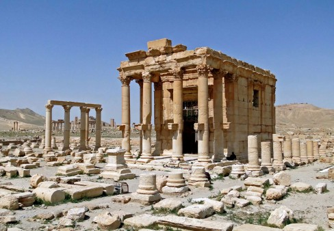 The temple of Baal-Zeus in Palmyra, before it was destroyed.