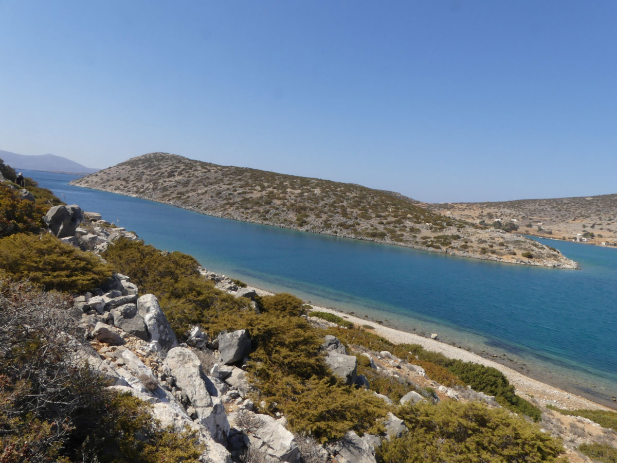 View of the site of Vathy on Astypalaia.