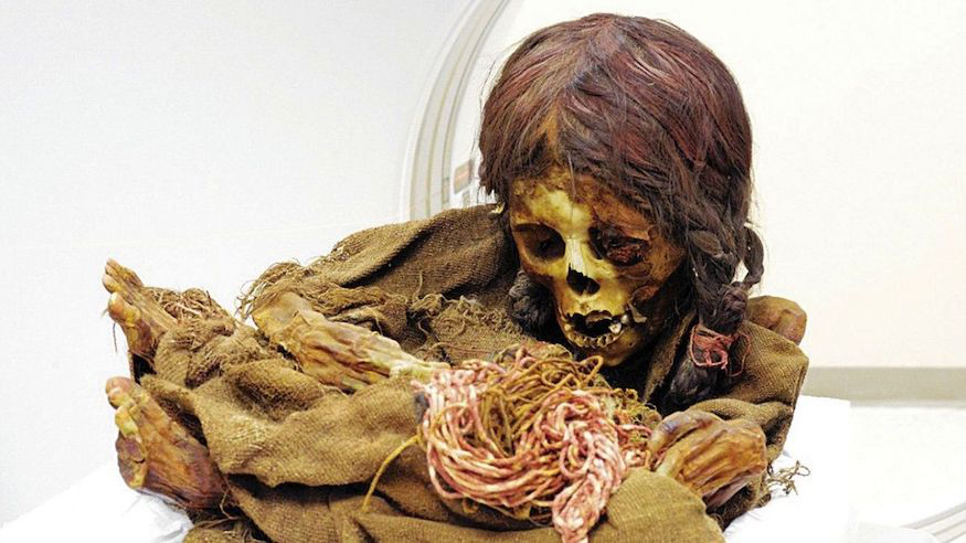 "The mummy is the remains of a young girl, nicknamed Ñusta, meaning ""princess"" in the Quechua language. Credit: Michigan State University"