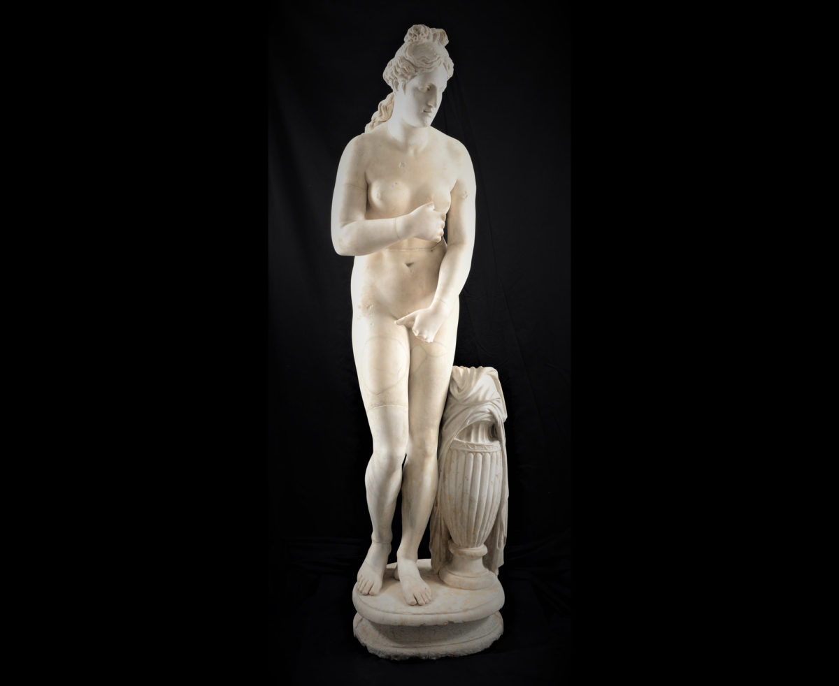 Statue in the style of the Aphrodite of the Capitol. Work of the Roman era. (© National Archaeological Museum/ Fund of Archaeological Proceeds).