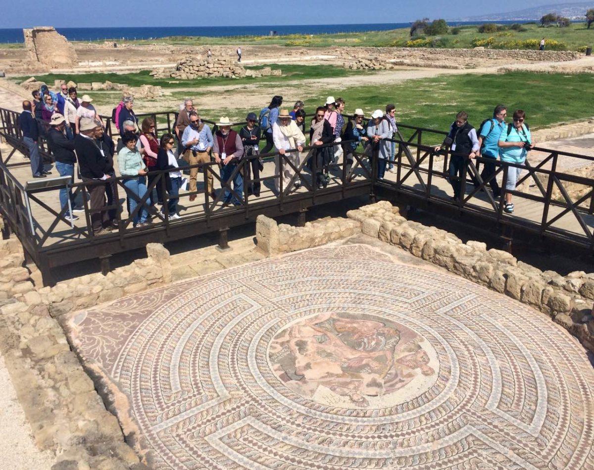 Roman mosaic, House of Theseus, Archaeological Park of Kato Paphos.