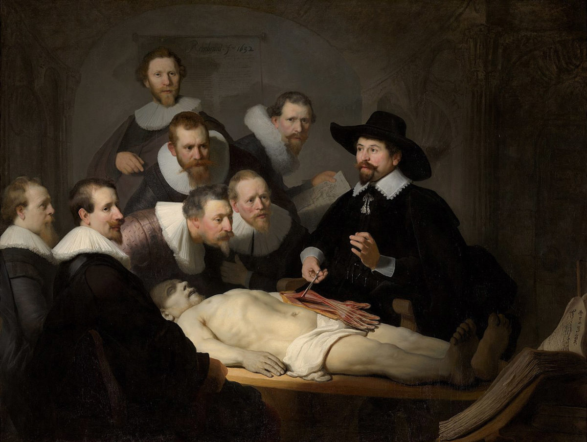 "Rembrandt, ""The Anatomy Lesson of Doctor Tulp″."