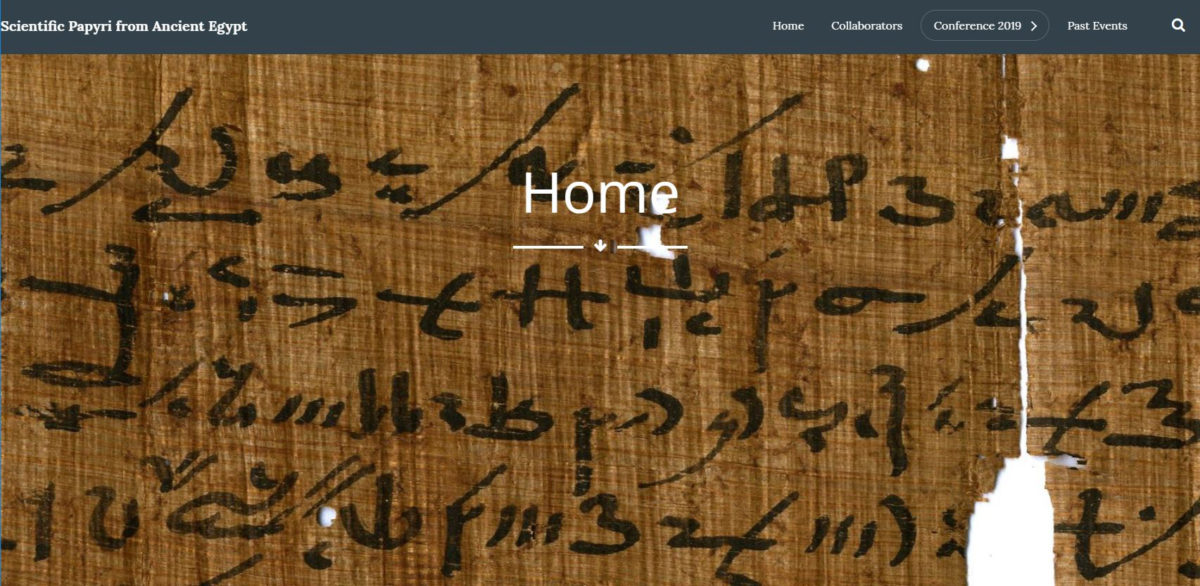 Homepage of Scientific Papyri from Ancient Egypt.
