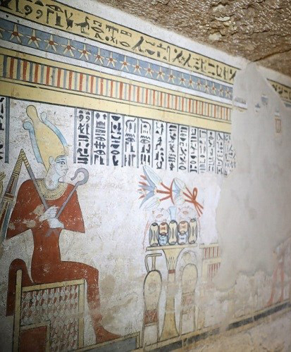 Wall-painting in the tomb found near Sohag (detail).