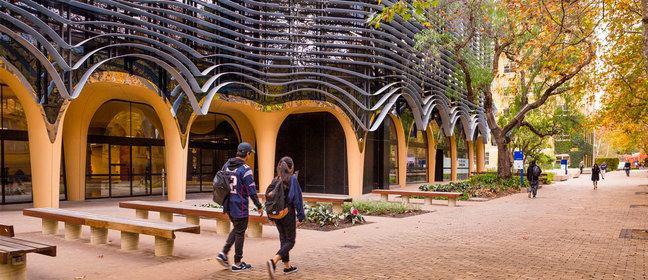 The Arts West building of the University of Melbourne.