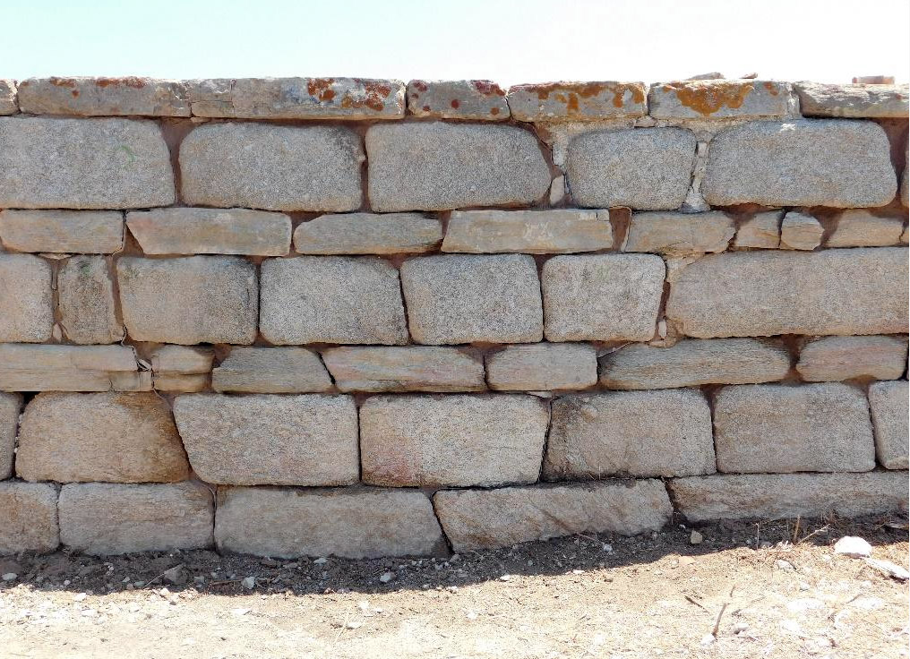 Stabilization of walls: view after the works (photo: Ministry of Culture and Sports).