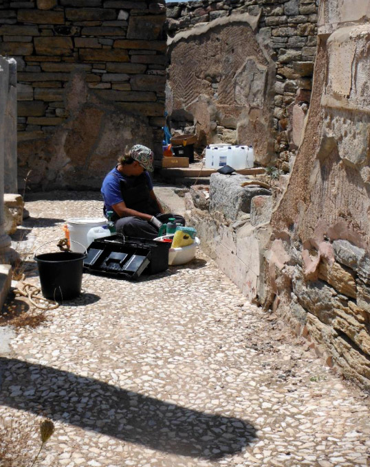 In situ conservation of frescoes and wall coatings (photo: Ministry of Culture and Sports).