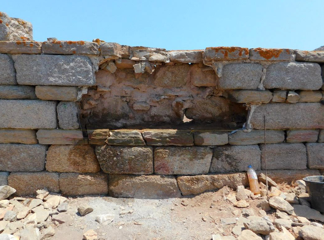 Stabilization of walls: view before the works (photo: Ministry of Culture and Sports).