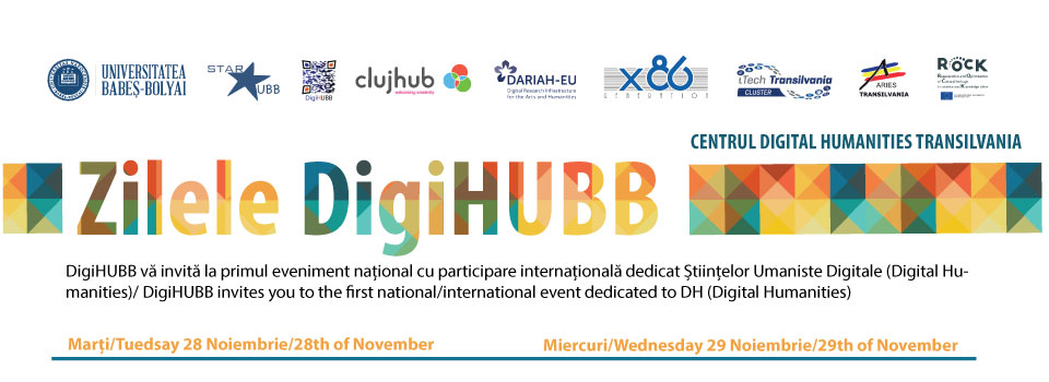 DigiHUBB DAYS, Second edition will take place on 28-29 November 2019 in Cluj-Napoca, Romania. The conference is hosted by Babeș-Bolyai University.