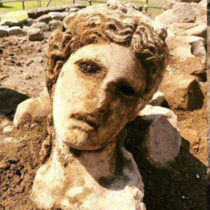 Marble head of ancient god Dionysus discovered in Rome