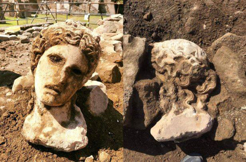 The head of Dionysus was found near the Roman Forum. Photo Credit: Archeological Park of the Colosseum/The Local.