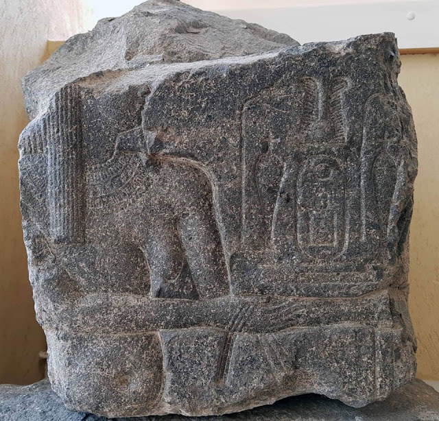 Various parts of inscribed  stones have been uncovered. Photo Credit: Egypt. Ministry of Antiquities/TANN.