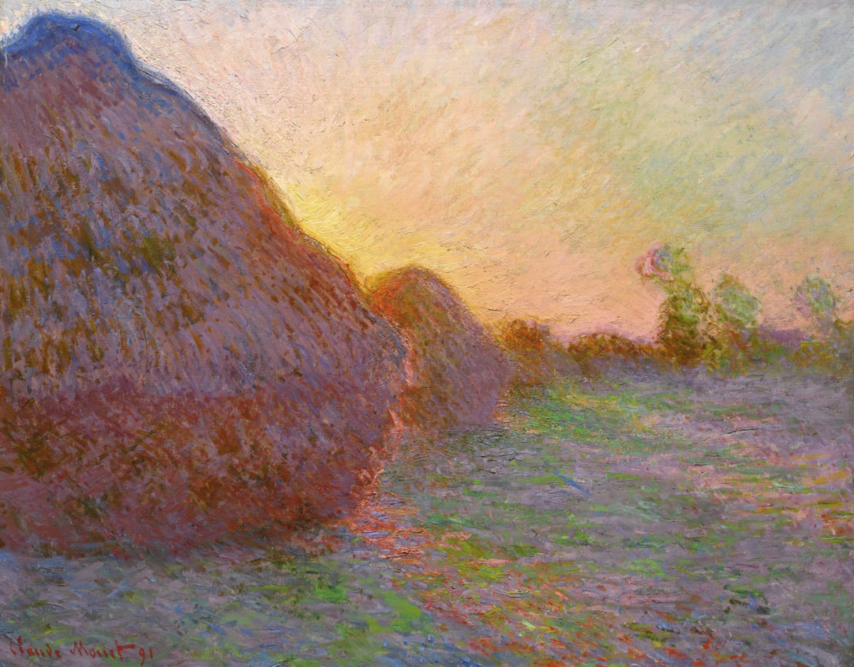 """The painting by Claude Monet from the """"Haystacks"""" series sold for a record price (photo: Sotheby's)"""