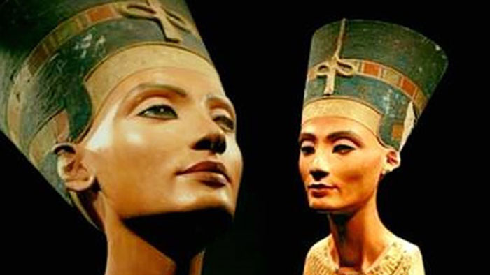 The bust was moved from Egypt over 100 years ago.  Photo Credit: SEE.