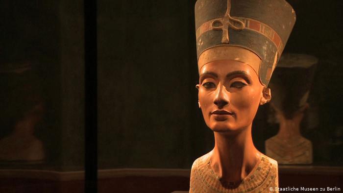 The Nefertiti bust is kept in a museum in Berlin, Germany. Photo Credit: Staatliche Museen zu Berlin/SEE.