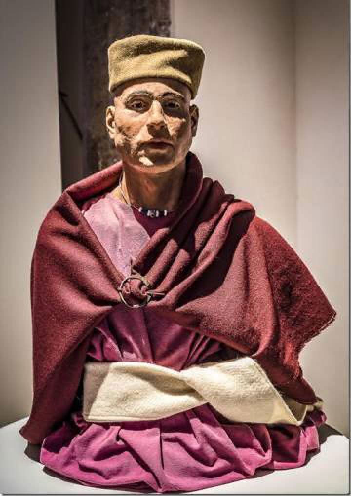 Reconstruction of a man whose body was found in the islet of Sa Galera. Photo Credit: AMICS DE NA GALERA/El Pais.