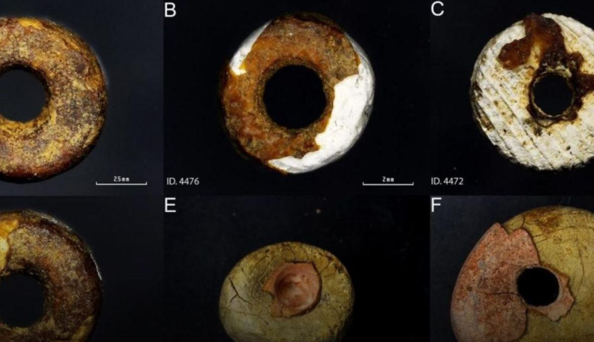 Amber bead samples. Credit: Odriozola et al., 2019