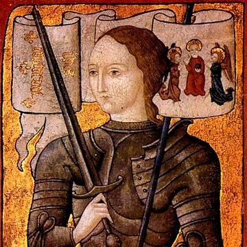 Joan of Arc. Miniature.