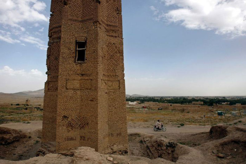 Ancient towers still stand in the old city of Ghazni. Photo Credit: Ahmad Masood/Reuters/abc news.