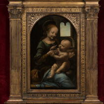 Da Vinci's Benois Madonna is on display in Italy