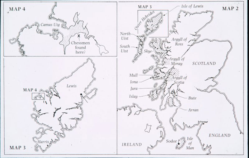 The Norse Kingdom of Man and the Isles c. 1150. Photo Credit: Sotheby's