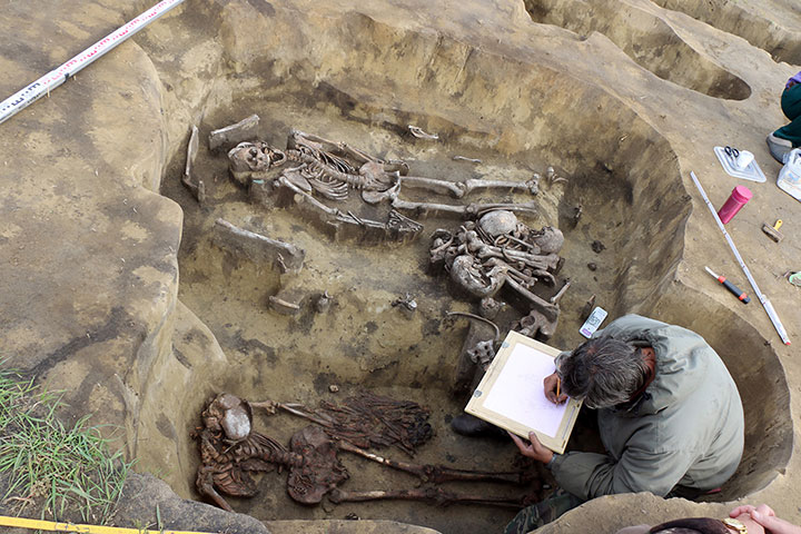The two burials were probably of shamans or priests of the Odinov culture. Photo Credit: Institute of Archeology and Ethnography / The Siberian Times.