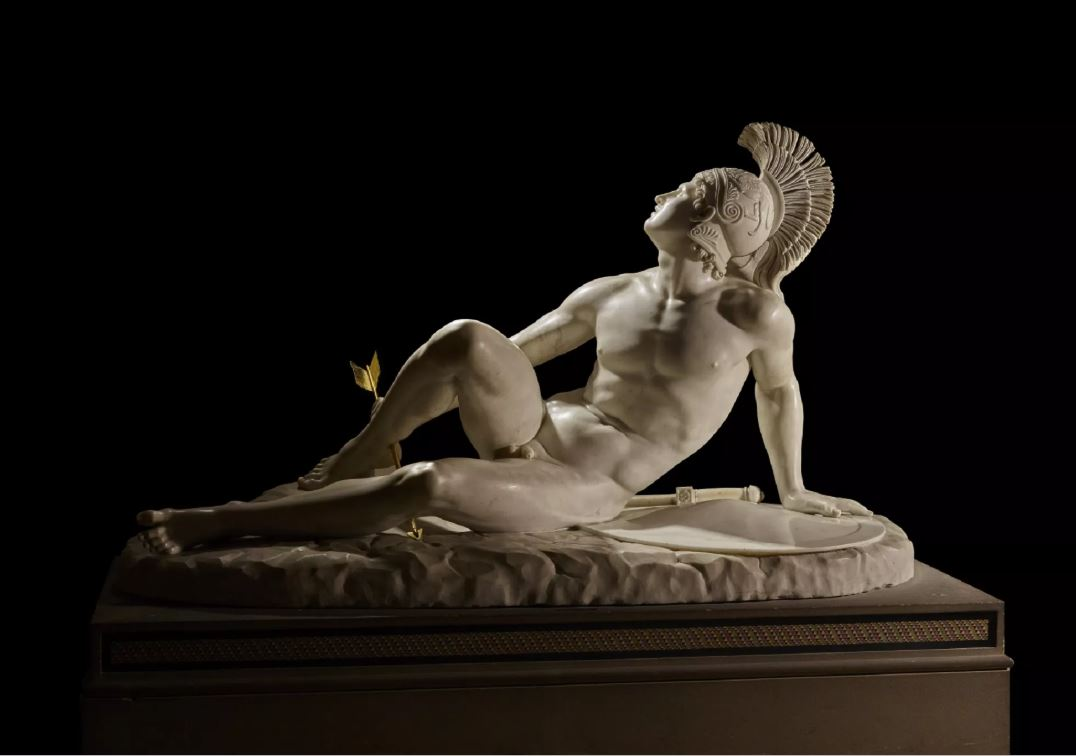 Filippo Albacini (1777–1858), The Wounded Achilles. Marble, 1825. © The Devonshire Collections, Chatsworth. Reproduced by permission of Chatsworth Settlement Trustees.