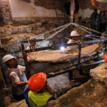 Archaeologists in Spain find rare lead Roman sarcophagus
