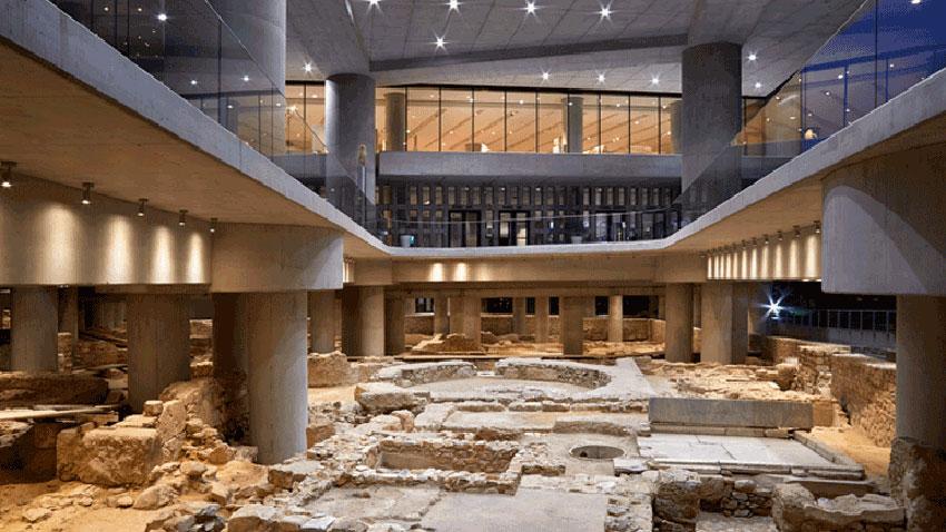 The archaeological excavation beneath the Acropolis Museum. Photo credit: Acropolis Museum / Giorgos Vitsaropoulos