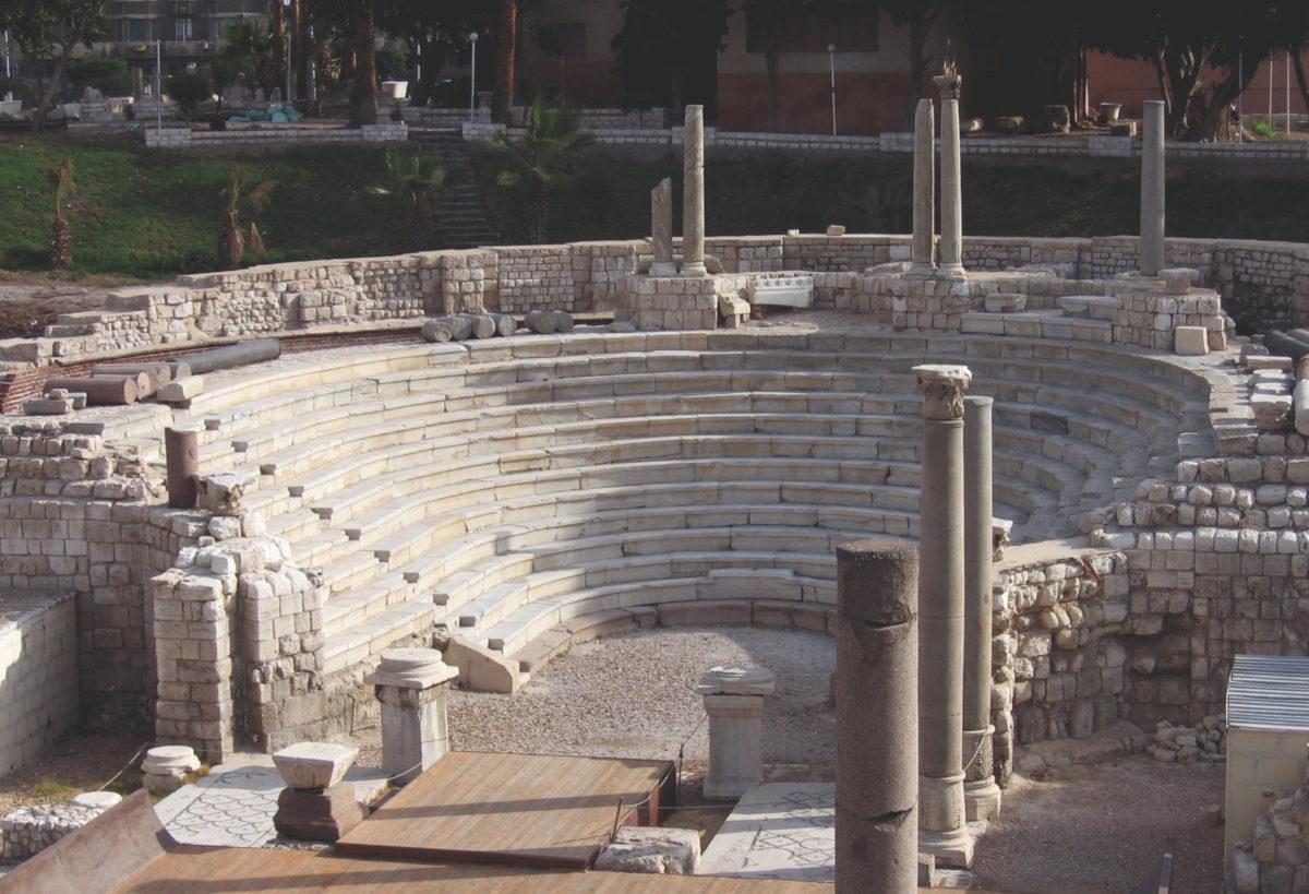 The small theatre at the Kom el-Dikka site in Alexandria.