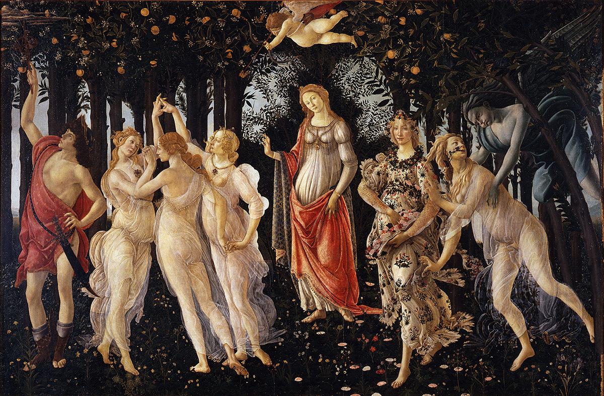Sandro Botticelli, Primavera, 1482, Uffizi Gallery.