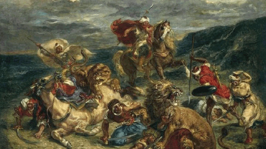 Charmed by the Orient, Delacroix (1798-1863) had been to Algiers in June 1832, after visiting Morocco. The work was executed around 1833-1834 and was part of the collection owned by the count de Mornay, a diplomat who Delacroix had accompanied to North Africa.