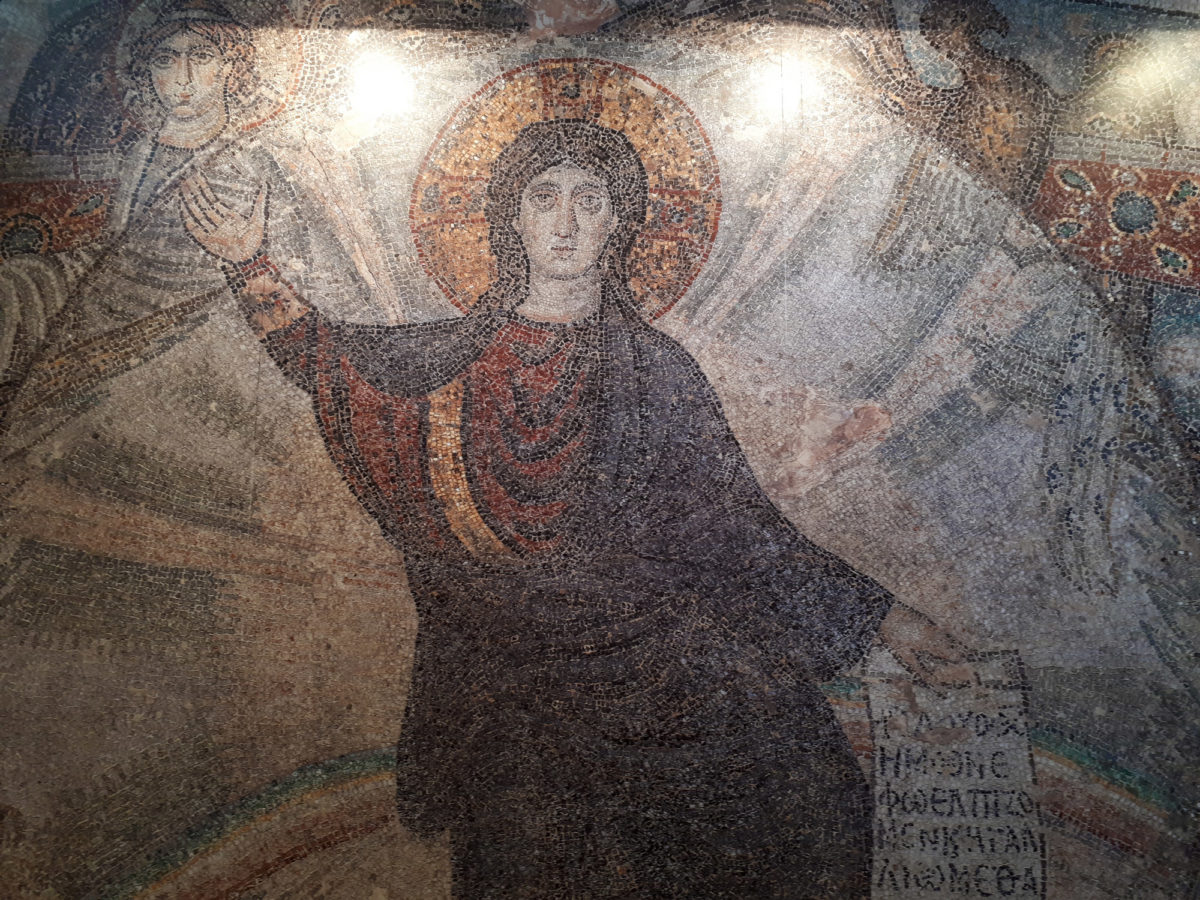 Mosaic displayed in the exhibition