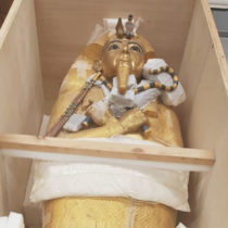 Tut's golden coffin undergoes first restoration