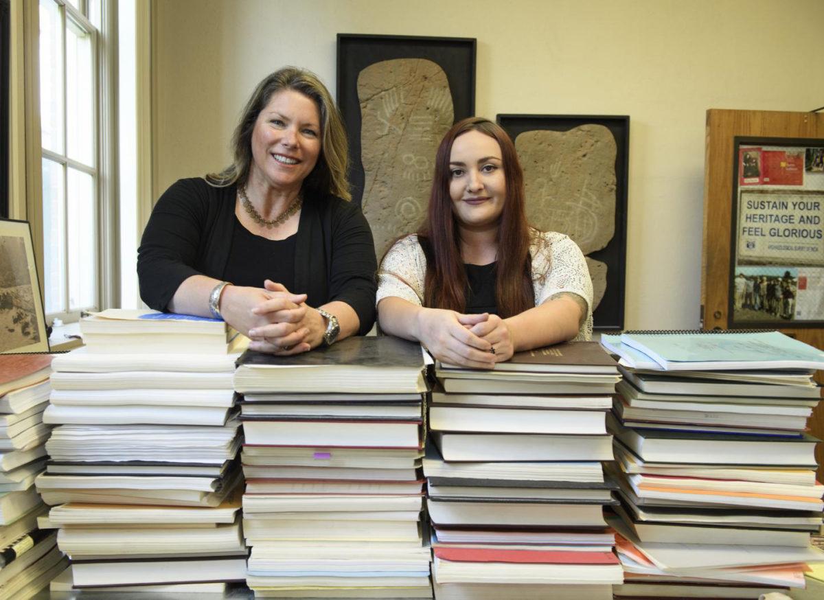 Shannon Tushingham and Tiffany Fulkerson, Washington State University archaeologists. Credit: WSU