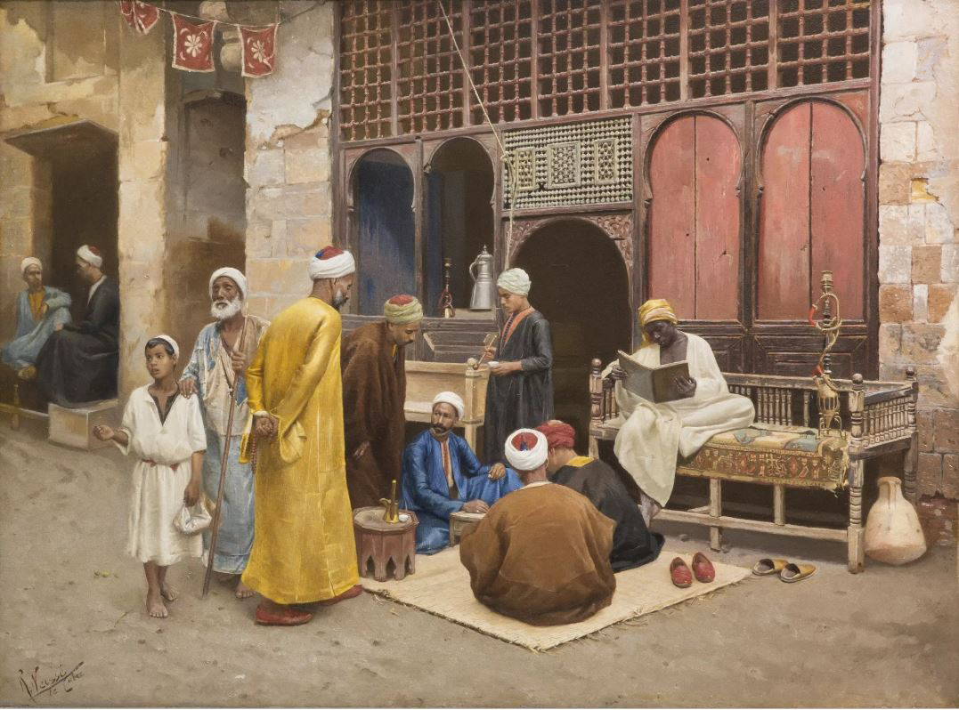 Rudolf Weisse (1869–c. 1930), The Dice Players. Oil on panel, Czechoslovakia. © Islamic Arts Museum Malaysia.